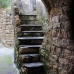 Treppe in Tovo, einem Stadtteil von Villa Faraldi