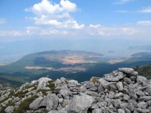 Blick zum Prespa-See
